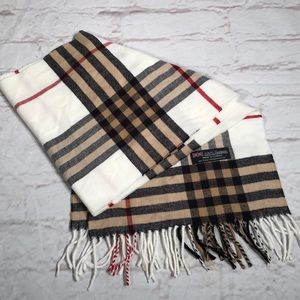 Beautiful plaid cashmere scarf.